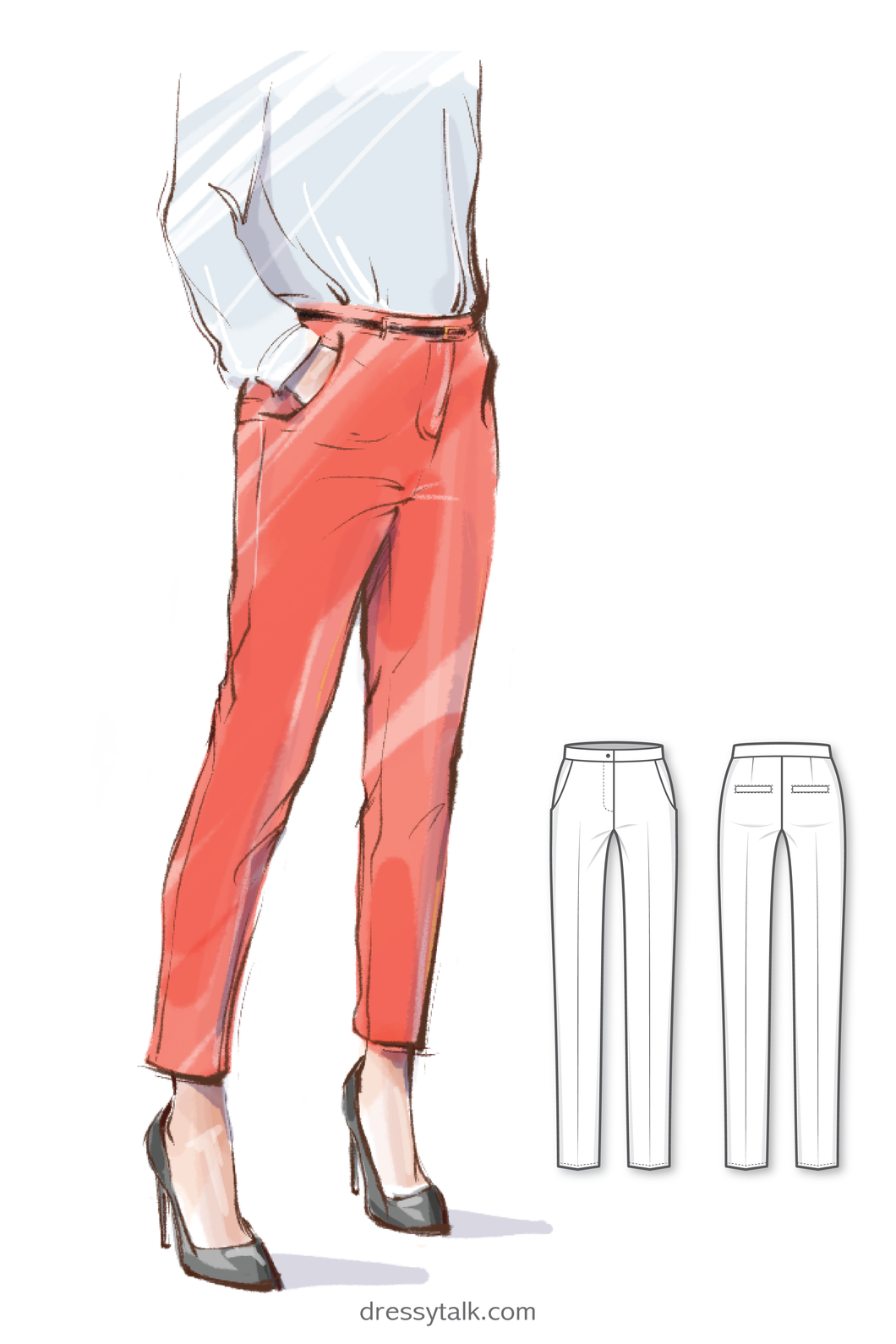 Basic Slim Pencil Pants #5202