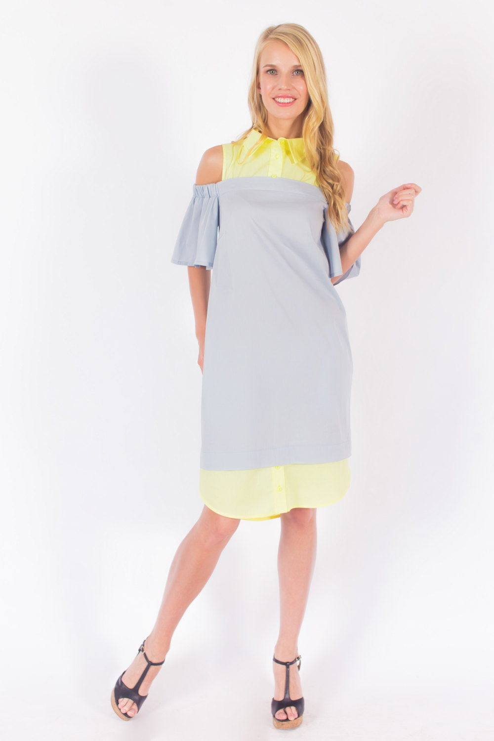 Off Shoulder Shirtdress #3101