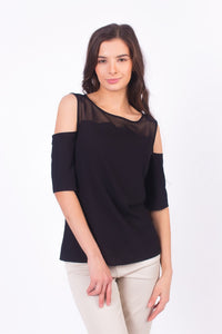 Cut Out Shoulder Top #2108