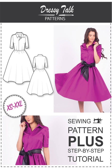 Circle Skirt Shirtdress #2123