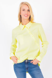 Asymmetrical Long Sleeve Shirt #3102