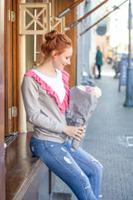 Ruffled Sweatshirt #4109