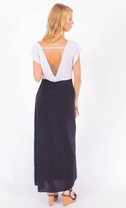Open Back Maxi Dress #3108