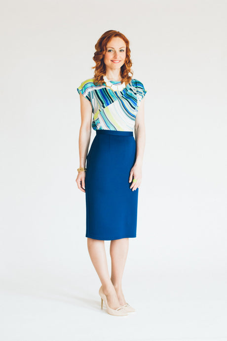 Classic High Waisted Pencil Skirt #1202