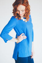 pdf sewing pattern - cuffed long sleeve top with high front and low back