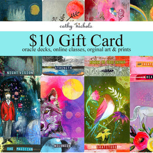 Gift card $10 for Cathy Nichols Art in Asheville, NC
