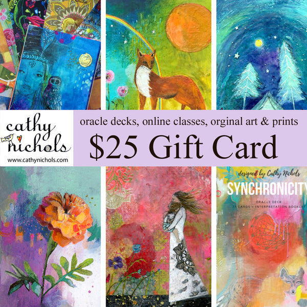 Gift card $25  Cathy Nichols Art in Asheville, NC