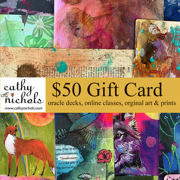 Gift card $50 for Cathy Nichols Art in Asheville, NC