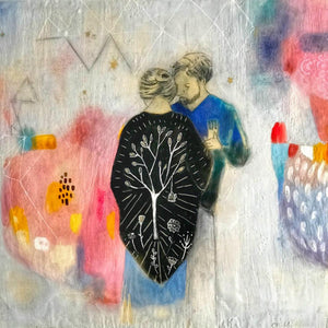 When We Dance - Original Encaustic Painting