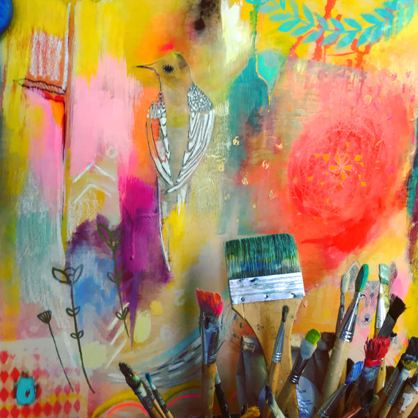Intuition - Original Encaustic Painting