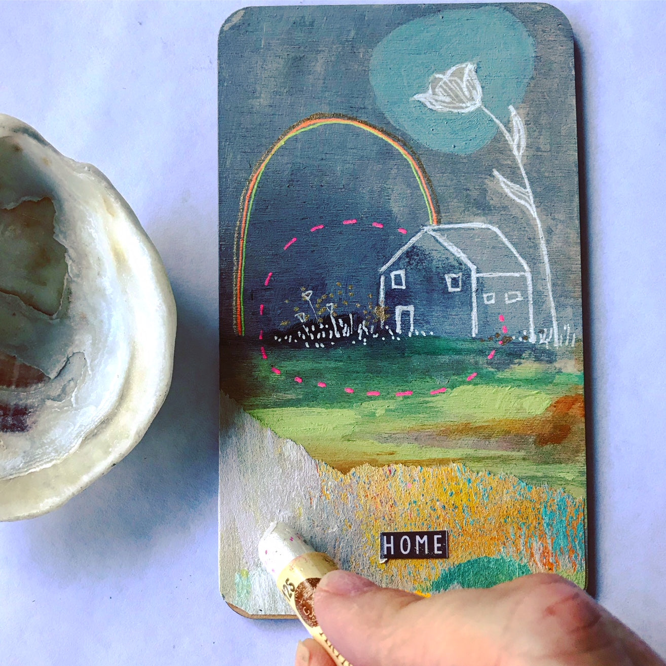 Home - Hand Painted Wooden Oracle Card