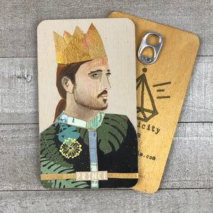 Prince- Hand Painted Wooden Oracle Card