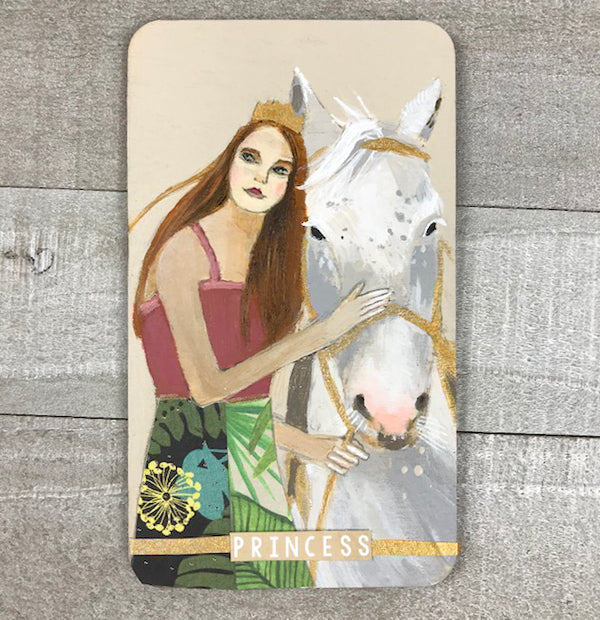 Princess - Hand Painted Wooden Oracle Card