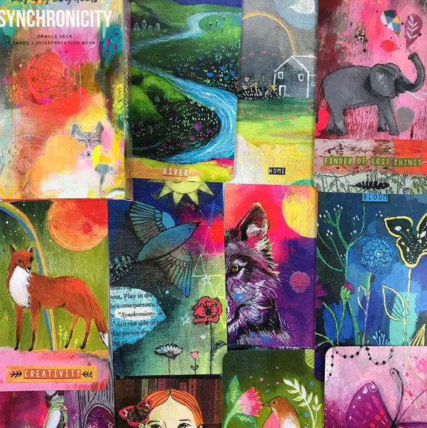 NEW Synchronicity Oracle Deck - 78 Cards, Interpretation Booklet, Storage Bag & 1 die