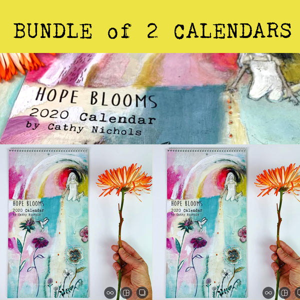 BUNDLE of 2 - 2020 Calendars - Hope Blooms (only 1 bundle left 1/4/20)