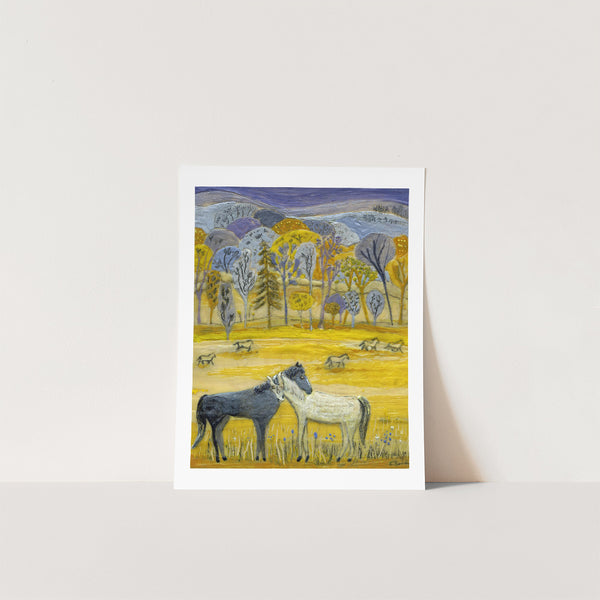 Wild Horses Print --  Couldn't Drag Me Away