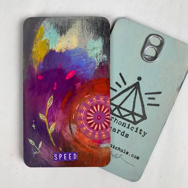 Speed - Hand Painted Wooden Oracle Card