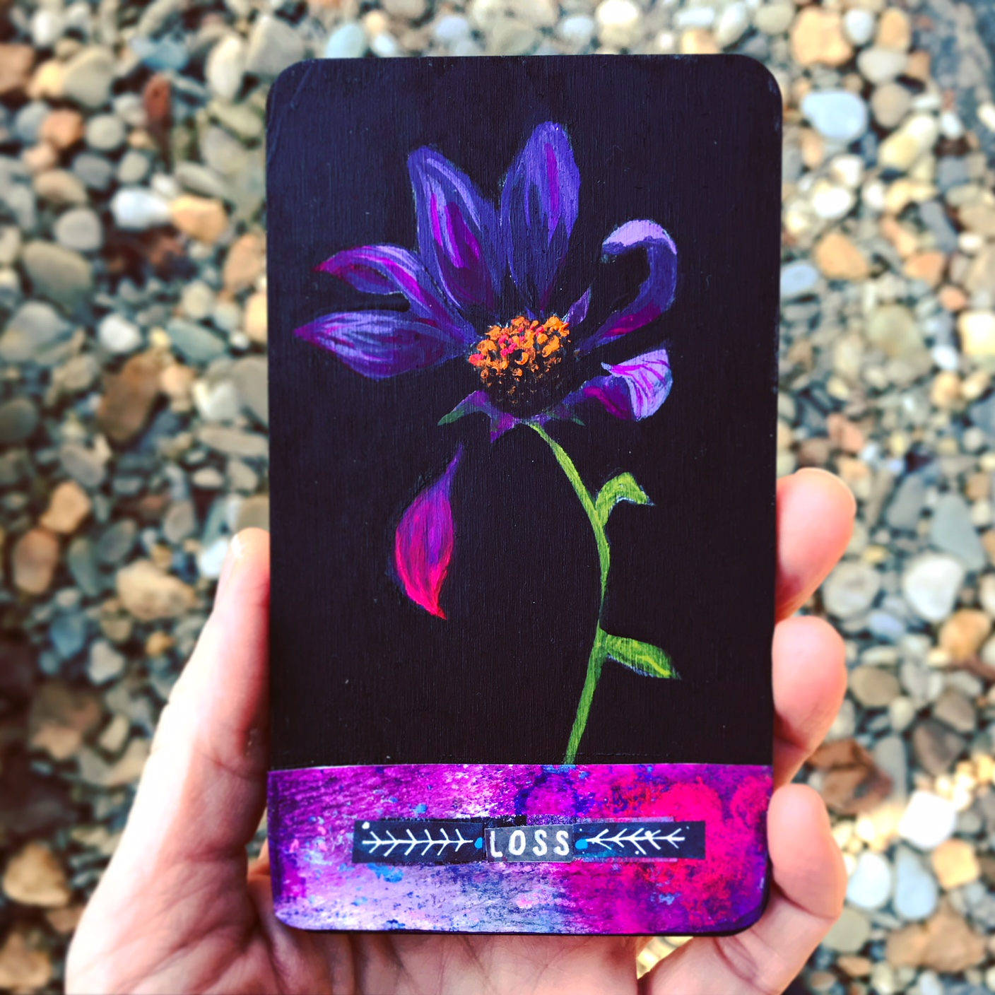Loss - Hand Painted Wooden Oracle Card