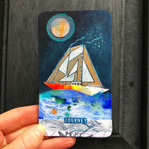 Journey - Hand Painted Wooden Oracle Card