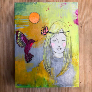 Love Medicine Original Encaustic Painting