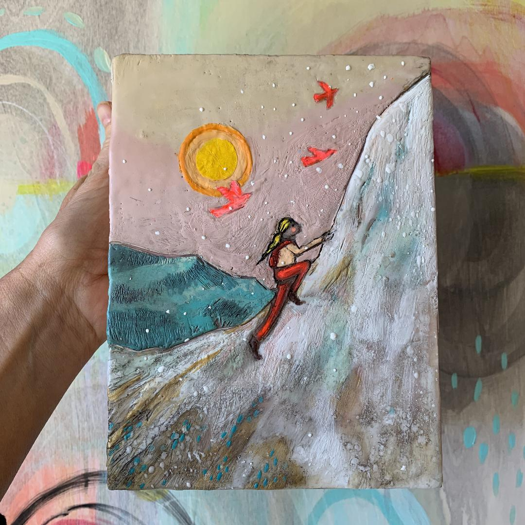 """It's the Climb""- Original Encaustic Painting"