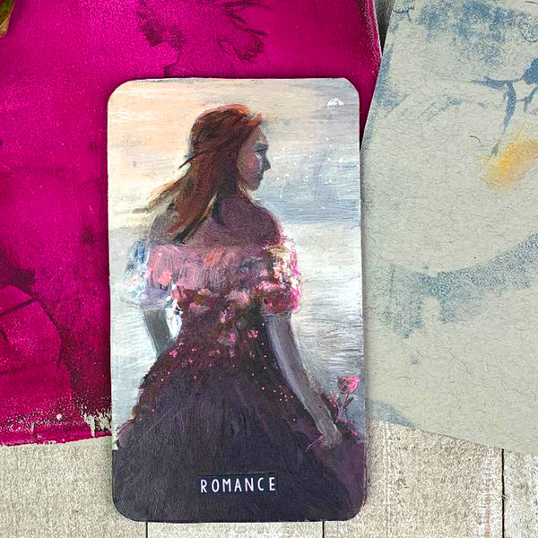 Romance - Original Hand Painted Wood Oracle Card