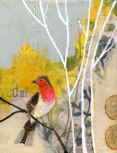 Songbird - Original Encaustic Painting