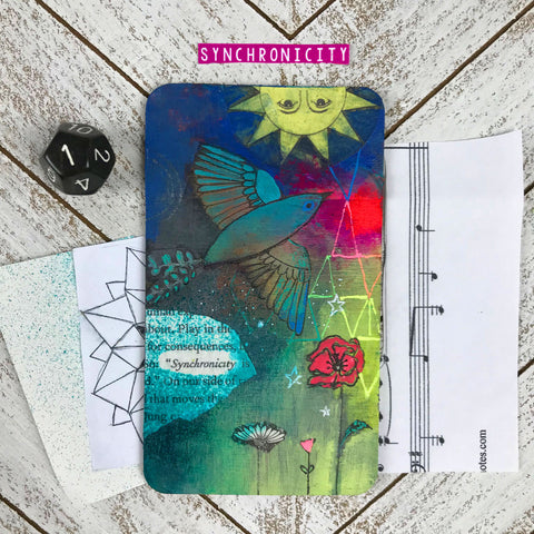 Synchronicty - Hand Painted Wooden Oracle Card