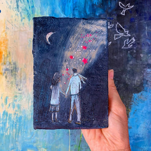 """The Light Between Us""- Original Encaustic Painting"