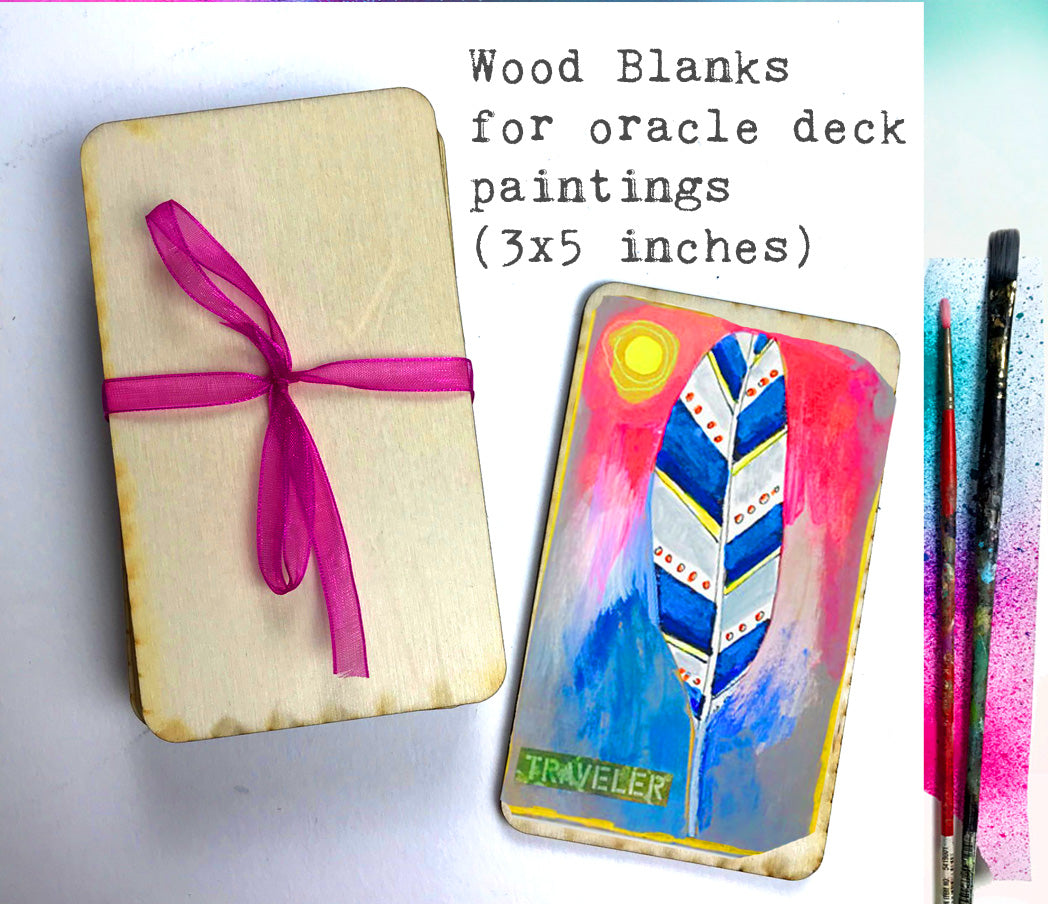 10 Wood Blanks for Oracle Card Paintings