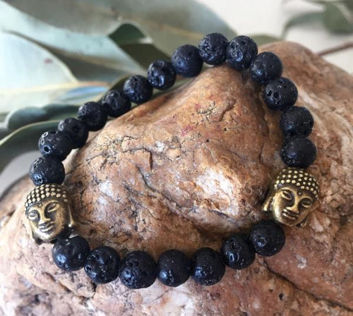 Child's Lava Stone Bracelet - Wellness Oils & Beads