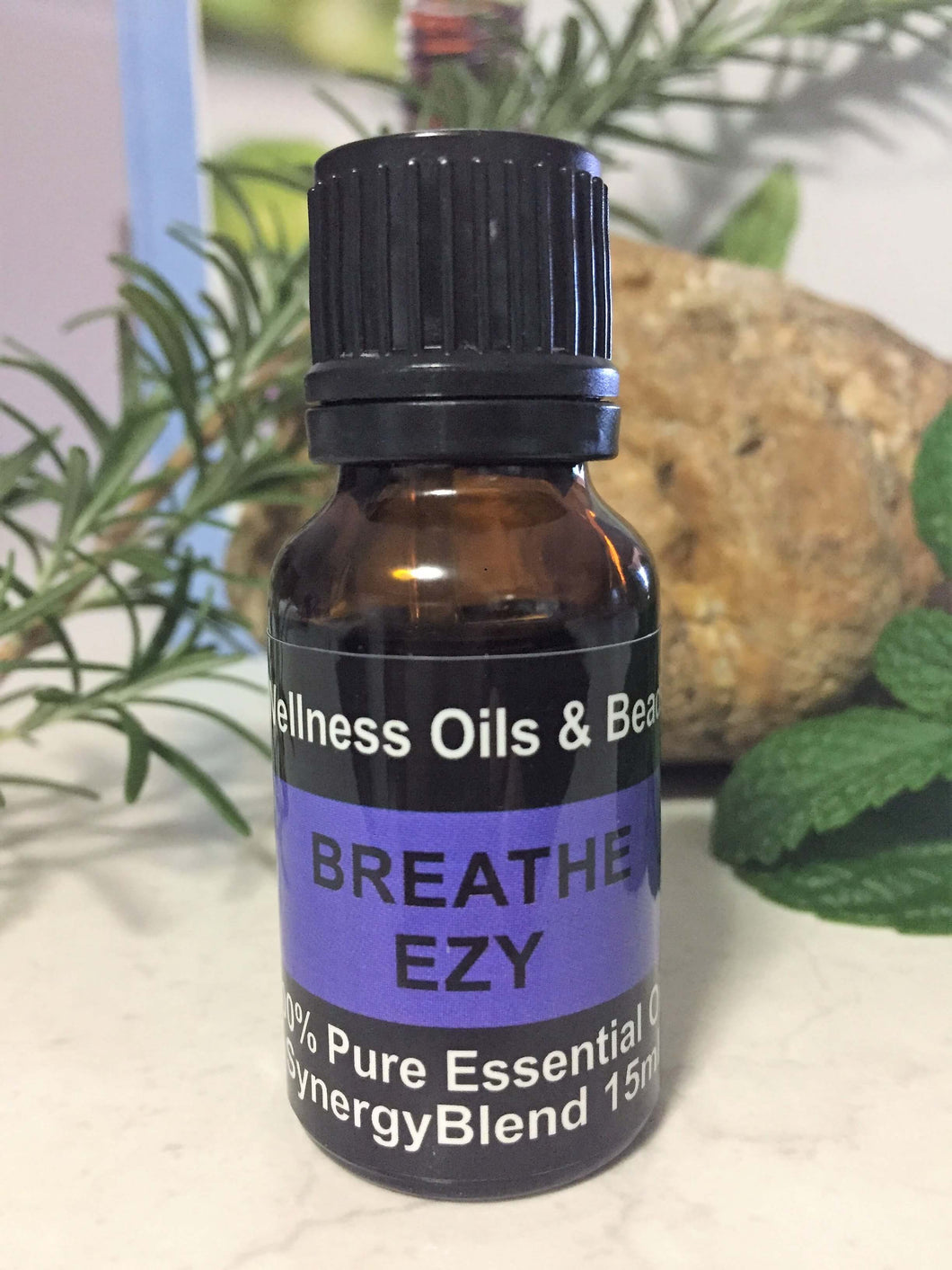 Breathe Ezy Essential Oil Blend 15ml-Wellness Oils & Beads