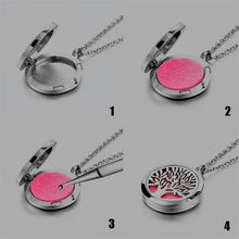Load image into Gallery viewer, Essential Oil Pendant Diffuser Necklace-Wellness Oils & Beads