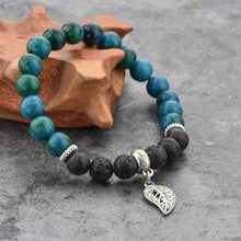 Load image into Gallery viewer, Agate and Lava Stone Bracelet Jade - Wellness Oils & Beads