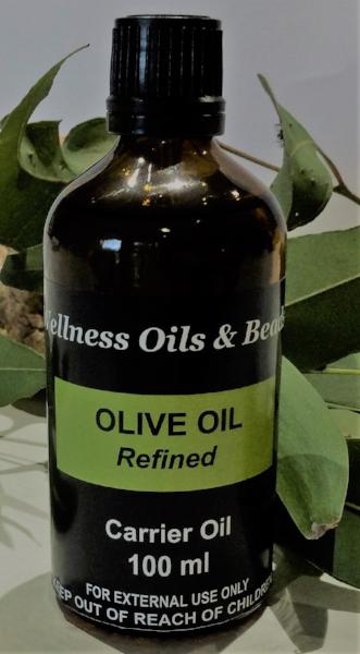 Olive Oil Refined Carrier Oil 100 ml - Wellness Oils & Beads