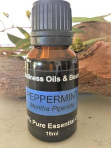 Certified Organic Peppermint Oil 15ml - Wellness Oils & Beads