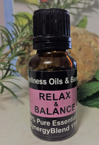 Relax & Balance Essential Oil Blend 15ml-Wellness Oils & Beads