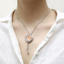 Load image into Gallery viewer, Adjustable Diffuser Aromatherapy Necklace- Stainless Steel