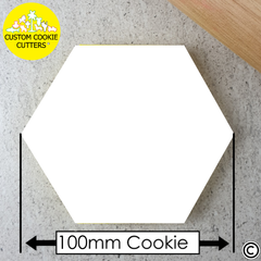 Very Large 100mm Custom Hexagon Cookie Embosser