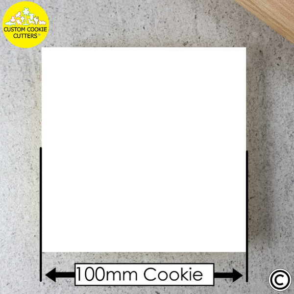 100mm Custom Square Cookie Embosser