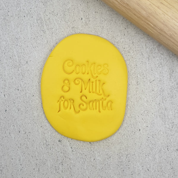 Cookies & Milk for Santa Embosser