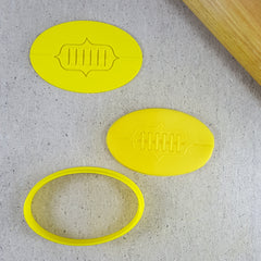 AFL Football Laces Cutter and Embosser Set