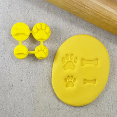 Dog Bone and Paw Embosser Set