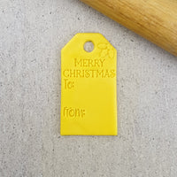 Merry Christmas Gift Tag Embosser & Cutter