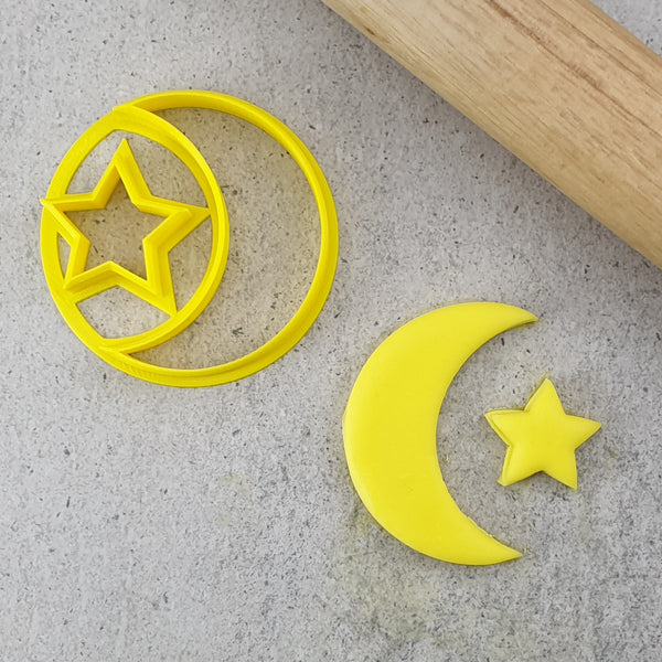 Moon Crest & Star Cookie Cutter