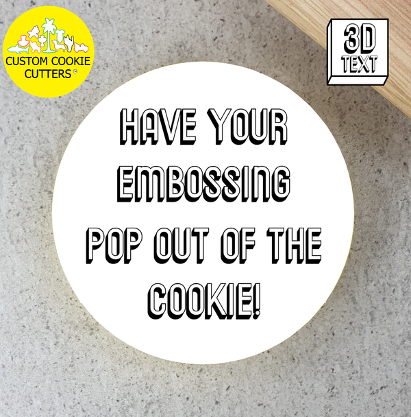 100mm Custom Round Cookie Embosser