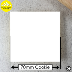 Standard 70mm Custom Square Cookie Embosser