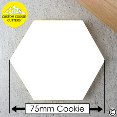 75mm Custom Hexagon Cookie Embosser