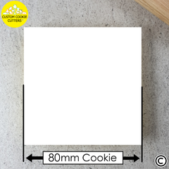 Large 80mm Custom Square Cookie Embosser