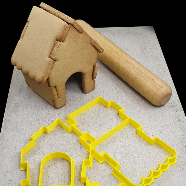 Whimsical 3D Embosser to suit Interlocking Gingerbread House